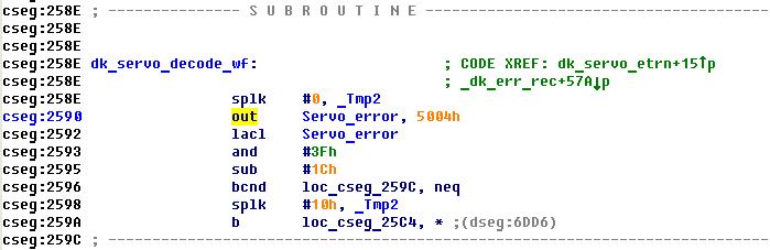 Maxtor, фрагмент дизассемблированного кода