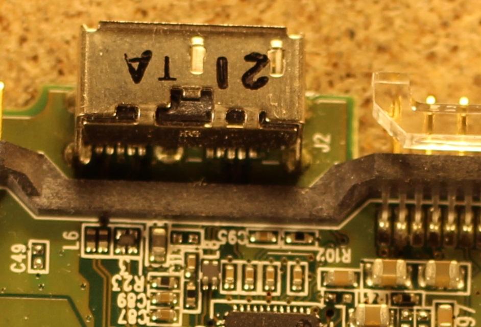 Рис. 6. Пример установки USB 3.0 разъема для диска WD.
